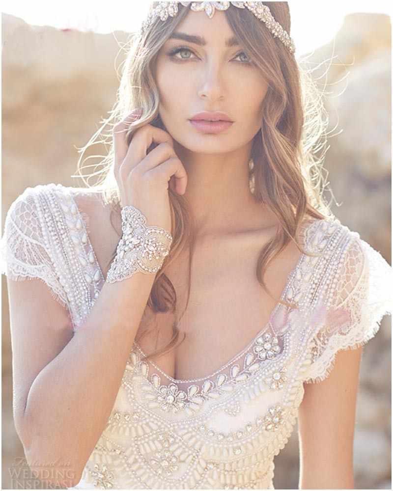 Robe mariage 2019 לבן ללא משענת שיפון החוף Boho חתונת שמלות תחרה V-צוואר חרוזים בוהמי כלה שמלות Vestido דה novia