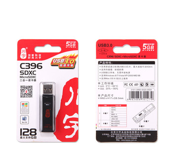 MINI Super Speed 5Gbps USB 3.0 Micro SDXC SD TF Card Reader Adapter For SD Card MicroSD SDXC SDHC Micro SDXC up to 128GB C396