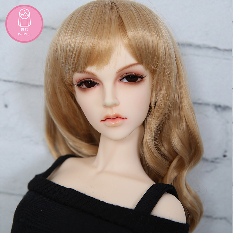Free Shipping BJD Wig 1/4 Long Curly Bang High Temperature Hair Silver Brown For 1/4 BJD Minifee Luts Iplehouse Doll Accessories free shipping sw luts as dz bjd sd boots bjd shoes