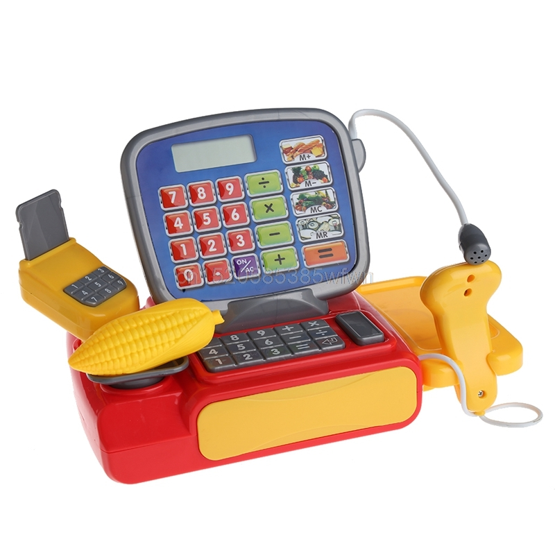 Cash Register with Scanner Weighing Scale Electronic Toy Play Pretend For Kid #HC6U# Drop shipping