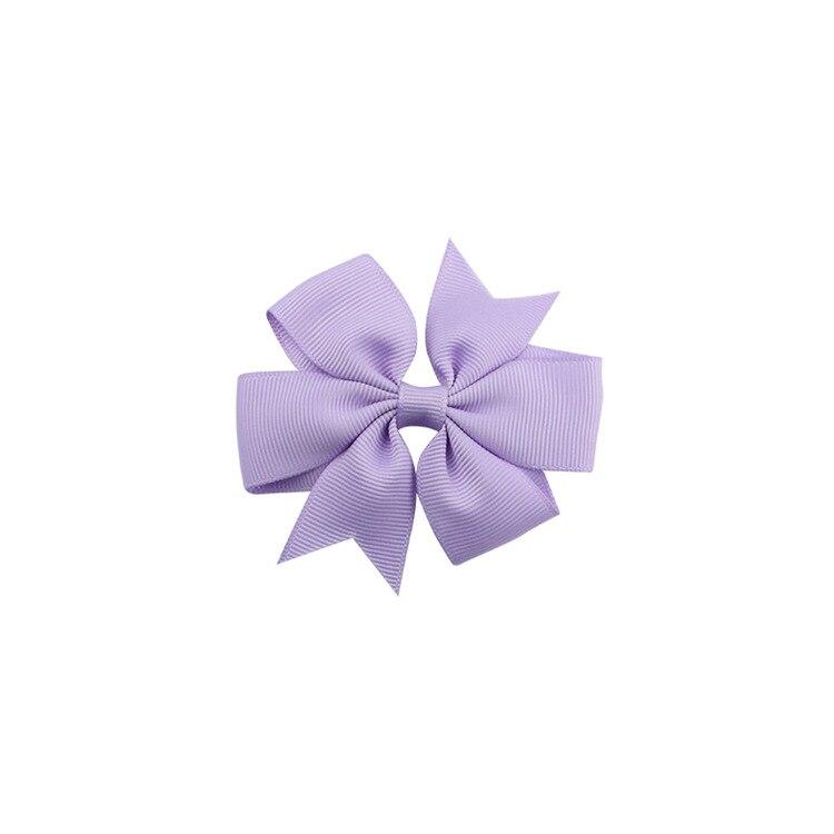 40 цветов сплошная корсажная лента банты заколки шпилька девушка бант для волос, бутик заколки для волос аксессуары для волос - Color: a26 Light Purple