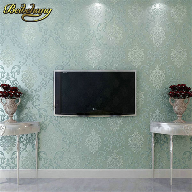 beibehang papel parede 3D Luxury Europe 3D Wallpaper roll Non-woven Damascu Wallpapers Home Decor Wall Paper Mural papel parede beibehang papel parede 3d romantic dandelion wedding decorative wallpaper non woven floral 3d wallpapers mural wall paper roll