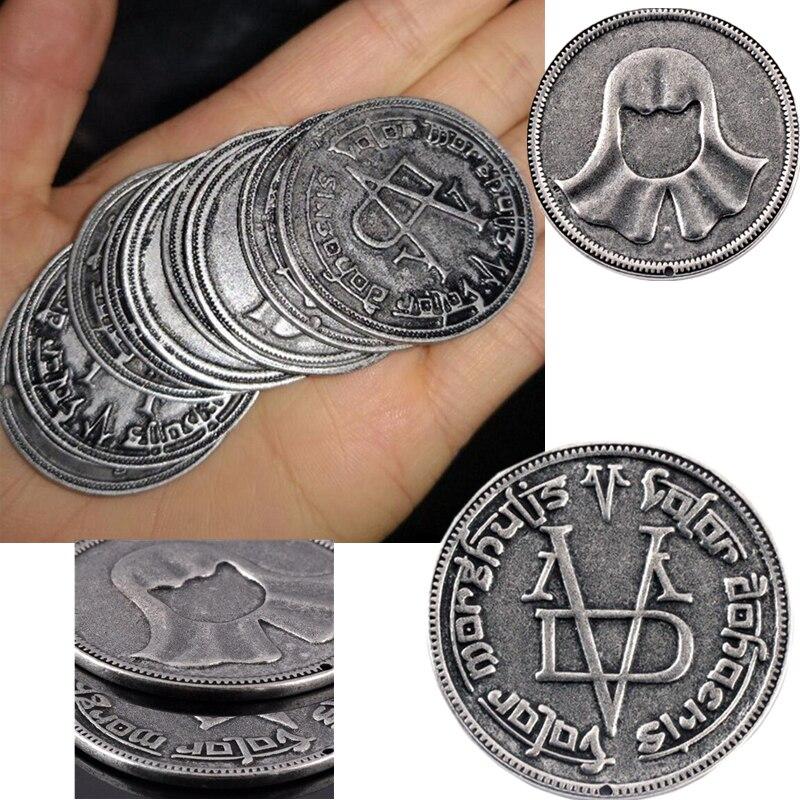 Game Of Thrones Cosplay Coin Valar Morghulis Faceless Man Iron Coin