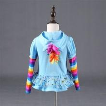 Winter 2018 Girls hoodies My Little Kids Sweatshirt Jackets Baby Hoodie Cute Pony Design Windbreaker Sport Blazer Outerwear 8Y