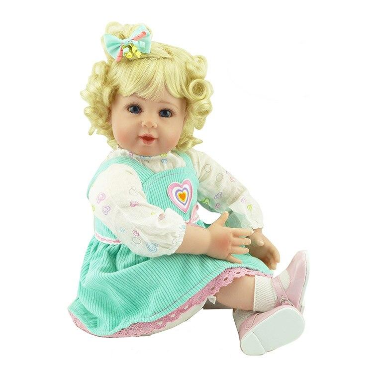 22 girl doll reborn blond curly hair with clothing fashion children gift dolls bebe real boneca reborn brinquedo menina barbie originais pet set dolls with girl dolls barbie dolls boneca children gift brthday gift for girls brinquedo toys djr56