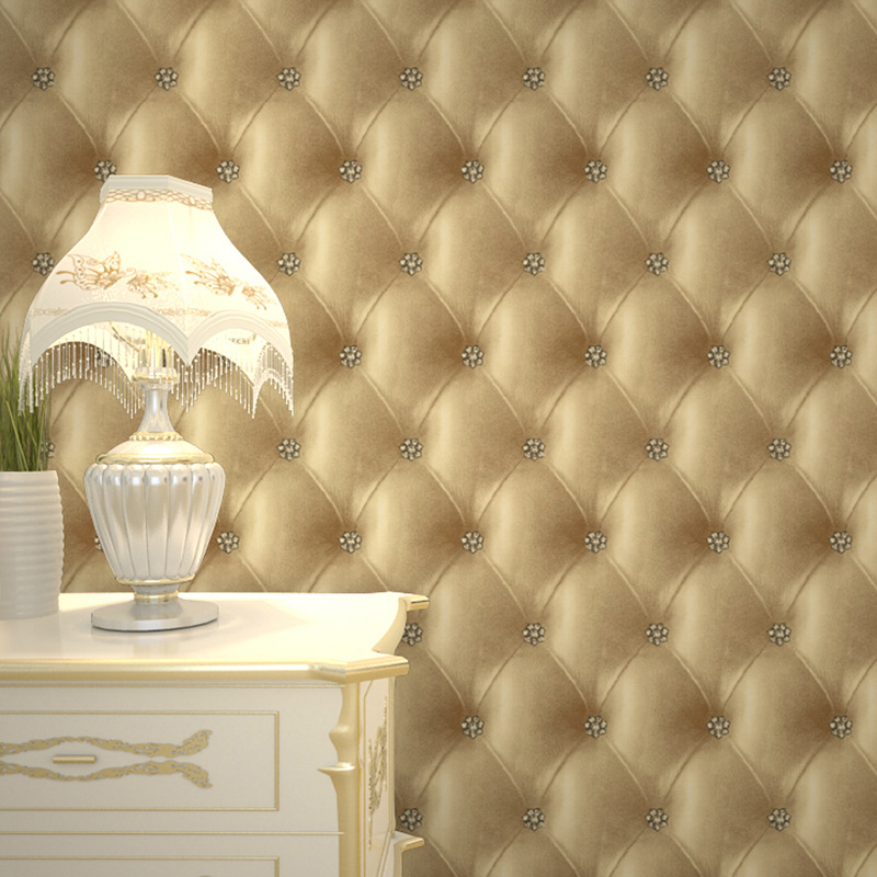 Cheng shuo wallpaper project of PVC imitation leather soft bag sitting room TV setting wall The bedroom bed background new fine fabric texture wall of setting of the bedroom a study wallpaper of europe type style yulan wallpaper fashion pavilion