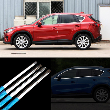 10pcs Stainless Steel Door Window Frame Sill Molding Trim For Mazda CX-5