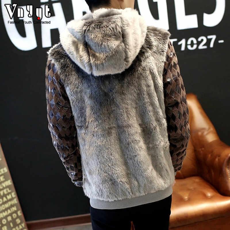 2020 jaqueta de couro curto masculino casaco de pele não-mainstream casaco de pele