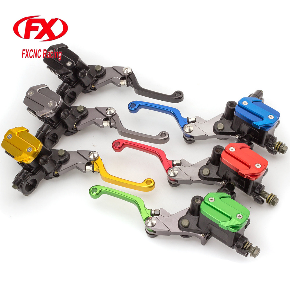 FX CNC 7/8 50-550cc Dirt Pit Bike Motocross Brake Clutch Lever Master Cylinder Reservoir Set For Yamaha MT125 2015 - 2016 cnc 7 8 for honda cr80r 85r 1998 2007 motocross off road brake master cylinder clutch levers dirt pit bike 1999 2000 2001 2002