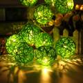35 Rattans Wicker Balls Fairy 4.7m LED String Lights Waterproof Christmas Party Wedding Led Outdoor Light Decor 220V EU Plug