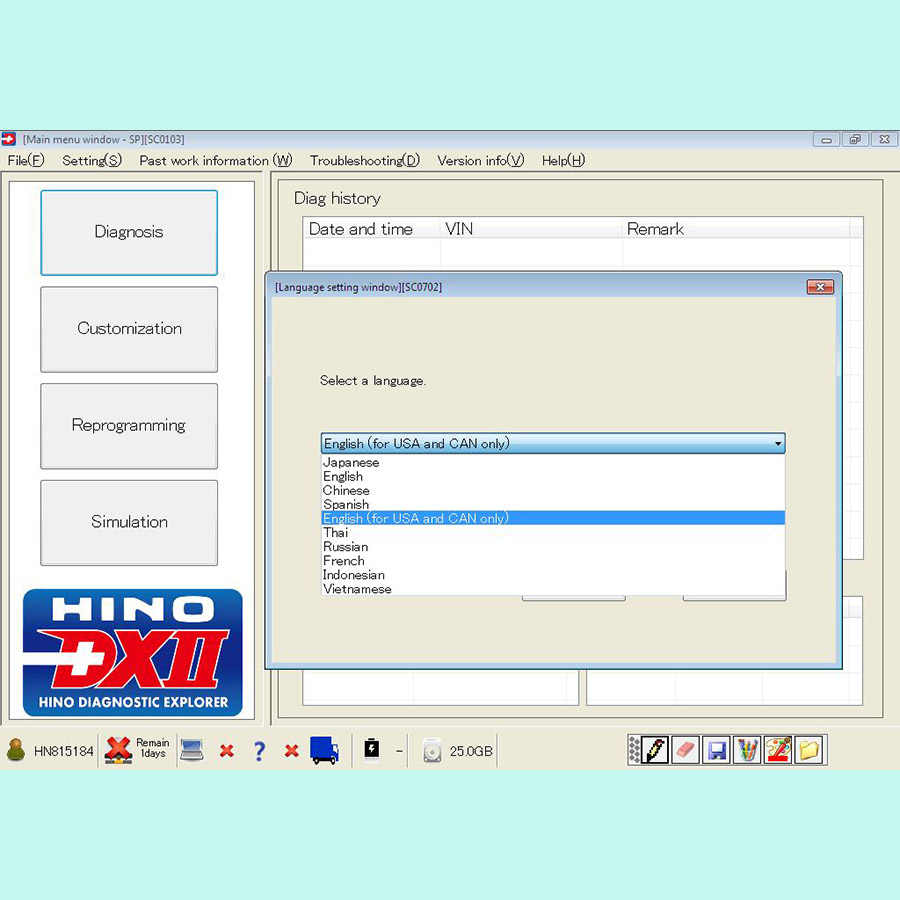 2018 for Hino Diagnostic EXplorer 2 for Hino DX2 1 1 18 6 +  Troubleshootings Database + Keygen Activator
