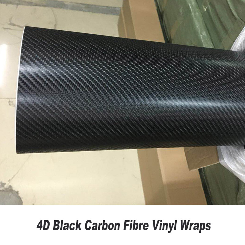 Wholesale price Selling 4D Carbon Fiber Vinyl Black any size Customized Standard size 5ft X 98ft/Roll Real shooting