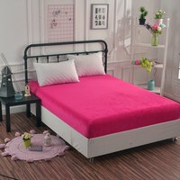 Hot sell warm winter coral fleece velvet fitted sheet cover high quality mattress cover for home hotel bed twin full queen king
