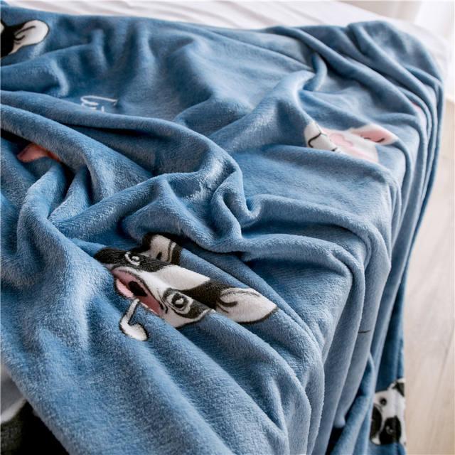 Dog Printed Fleece Blanket