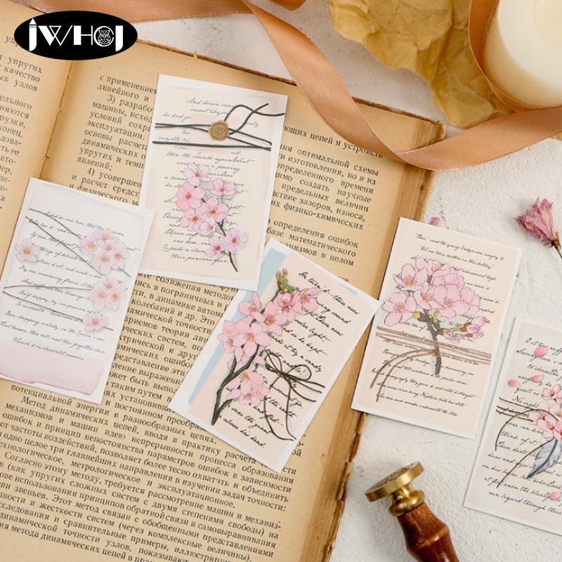 28pcspack beautiful flowers pink sakura letter mini lomo
