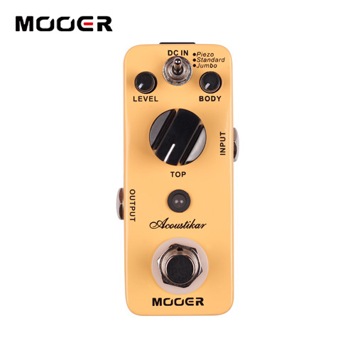 MOOER Acoustikar Reverb Pedal Acoustic guitar simulation effects 3 Working Modes Piezo Standard Jumbo Guitar effect pedal цена