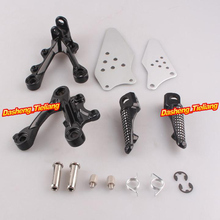 Aluminum Alloy Front Rider Foot Pegs Footrest Brackets for KAWASAKI NINJA ZX6R 09 11 Motorcycle Spare