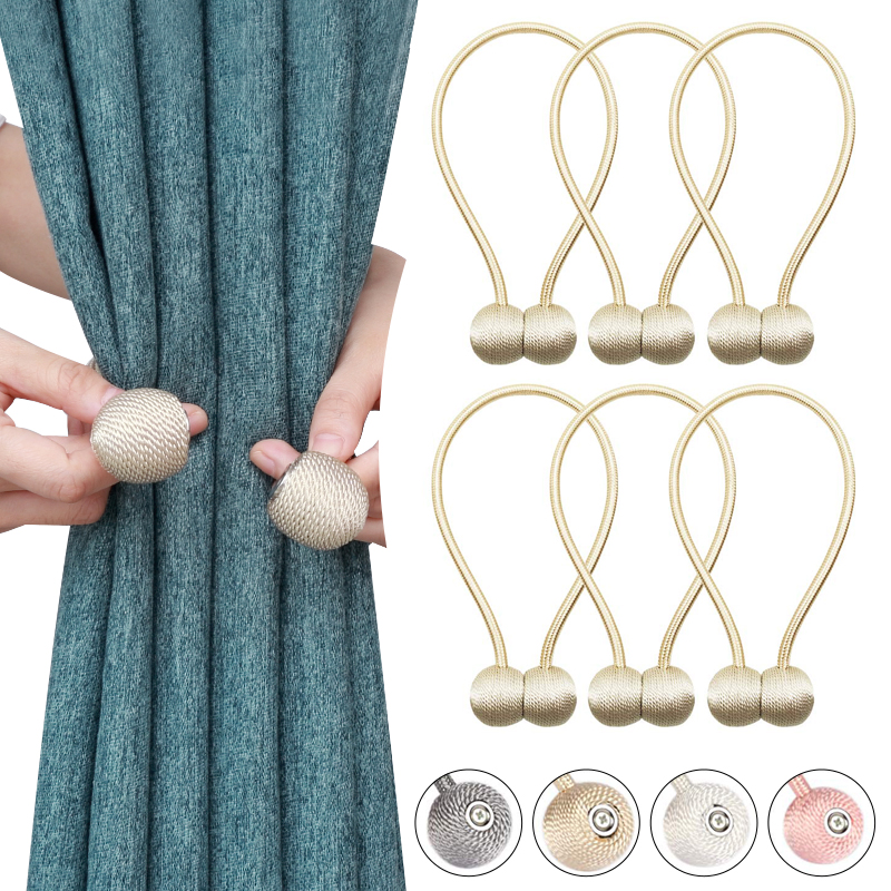 1PC Creative Headset Shape Magnetic Curtain Tieback Decorative Curtain Holdback Rope Convenient Drape Tie Backs for Window Decor in Curtain Decorative Accessories from Home Garden