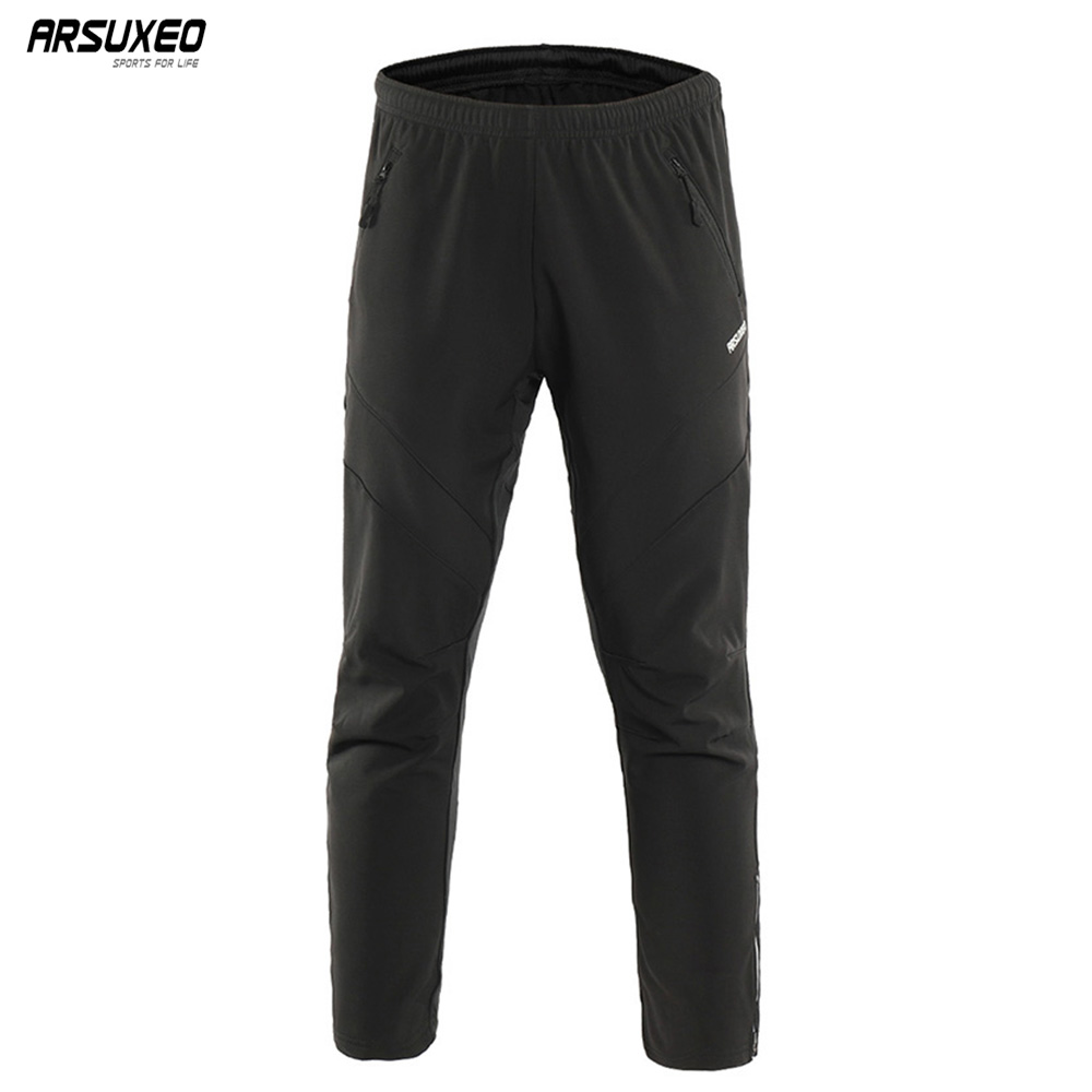 ARSUXEO Mens Winter Warm Up Thermal Fleece trousers Multi Sports Running Bike Cycling Pants Windproof 18ZARSUXEO Mens Winter Warm Up Thermal Fleece trousers Multi Sports Running Bike Cycling Pants Windproof 18Z