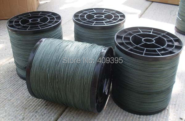 1000m 200LB/8 strands Material From Japan Moss Green Braided fishing line Sea fishing line Super good quality Free shipping стоимость