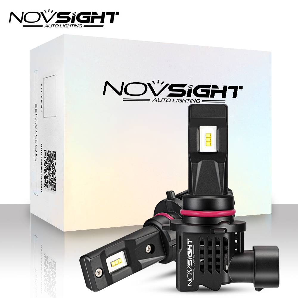 NOVSIGHT New 1:1 DESIGN 2PCS Mini LED Car Headlight H11 H4 H7 9005 9006 HB3 HB4 H1 H3 55W 10000LM 6000K White Auto LED Lamps