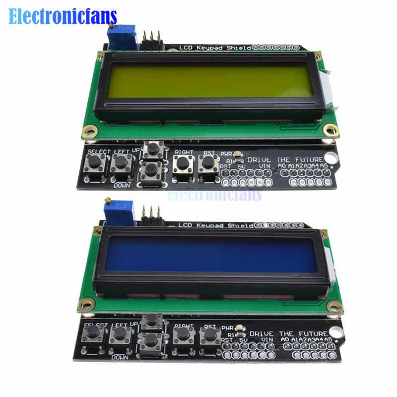 Escudo de teclado LCD1602 para Arduino 1602, pantalla LCD ATMEGA328 ATMEGA2560 para módulo de luz negra de pantalla azul Raspberry Pi UNO