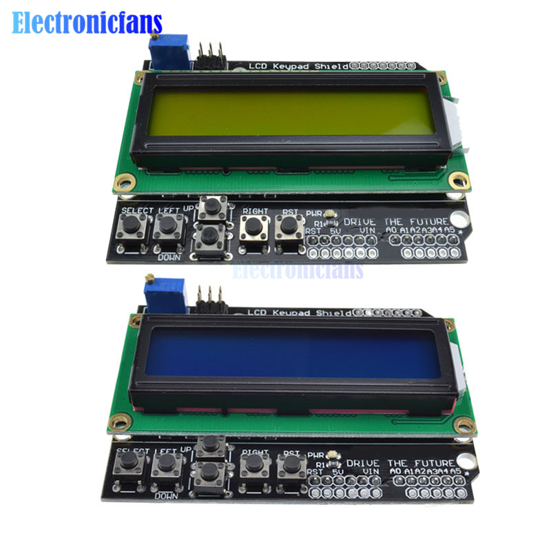 Keypad Shield LCD1602 For Arduino 1602 LCD Display ATMEGA328 ATMEGA2560 For Raspberry Pi UNO Blue Screen Blacklight Module