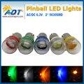 100 единиц 2*5630 SMD Пинбол светодиодные Лампы ПЕРЕМЕННОГО ТОКА 6.3 В