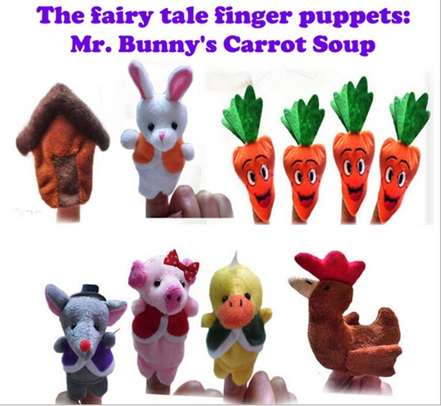10pcs Set The Nursery Rhyme Finger Puppets Mr Bunny S Carrot Soup Baby