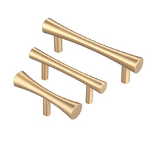 Brass Gold Tbar Kitchen Cabinet Drawer Knobs and Pulls Bathroom Cupboard Furniture Handles-10Pack