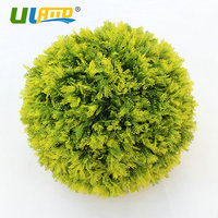 ULAND Artificial Boxwood Balls Faux Topiary Sphere Plastic Plants Kissing Balls Porch Christmas Garden Decoration Outdoor