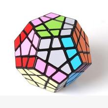 Shengshou Megaminx Magic Cubes pentagone 12 côtés Gigaminx PVC autocollant Dodecahedron Toy Puzzle Twist