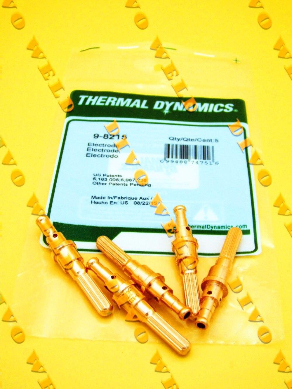 9-8215 electrode 10pcs and 9-8212 nozzle 100A 10pcs Per Lot Thermal Dynamics plasma cutting consumables SL60-SL1009-8215 electrode 10pcs and 9-8212 nozzle 100A 10pcs Per Lot Thermal Dynamics plasma cutting consumables SL60-SL100
