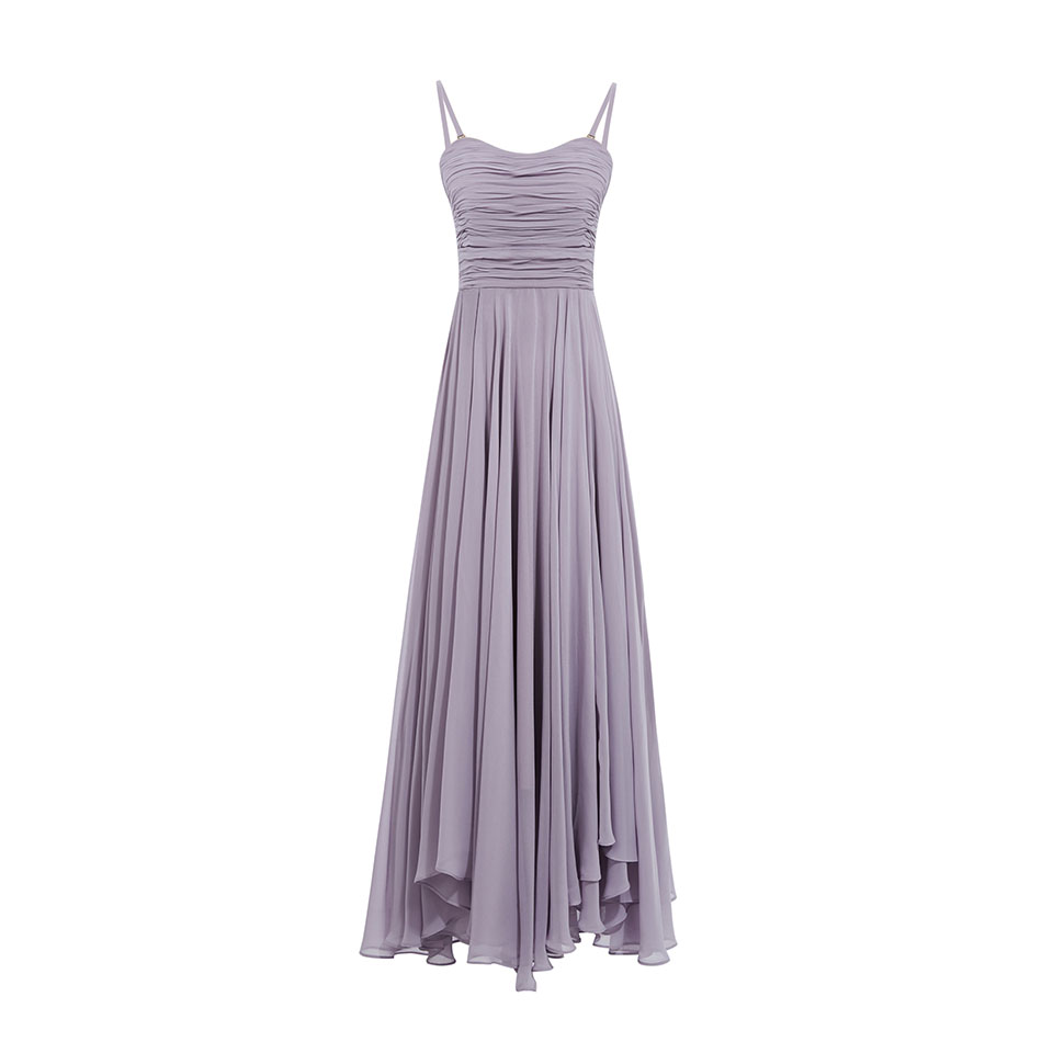 Dressv lavender strapless ruched long   evening     dress   sleeveless wedding party formal   dress   a line   evening     dresses