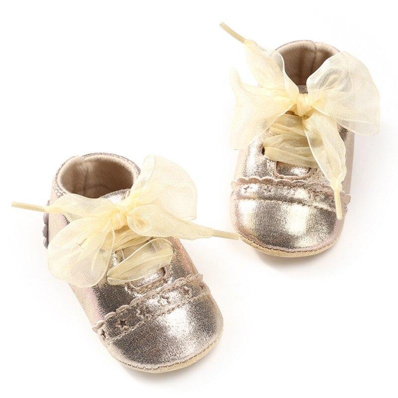 New Baby Girl Newborn Shoes Spring Summer Sweet Very Light Mary Jane Big Bow Knitted Dance Ballerina Dress Pram Crib Shoe