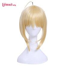 Парик L email Fate Grand Order Saber Nero, парики для косплея, FGO, косплей, золотая коса, термостойкий парик из синтетических волос