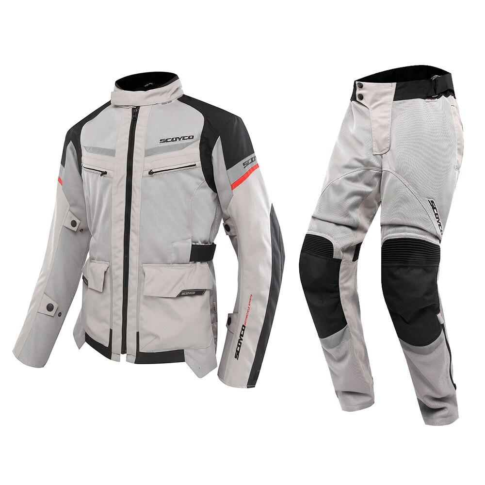 SCOYCO moto vestes et pantalons été respirant Protection contre les chutes Motocross course costumes Motorbiker combinaisons de Protection