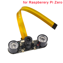 Raspberry Pi Zero Camera Camera (F) Focal Adjustable Module Night Vision Webcam +2 pcs IR Sensor LED Light for Raspberry Pi Zero