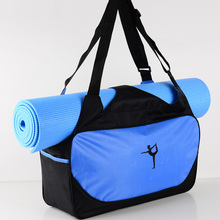 Yoga Fitness Bag Training Shoulder Crossbody Sport Bag Waterproof Nylon Women's Pilates Mat Carriers Bag Travel Duffel Gym Bags цена