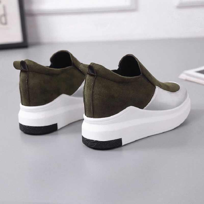 5409359530ec ... 2018 Весенняя новинка Женская обувь на платформе цвет бороться Модные  круглый носок комплекты женская обувь для