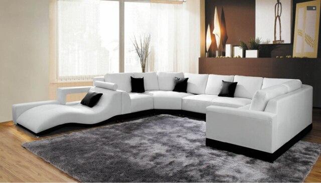 Moderno angolo divani e divani angolari in pelle per