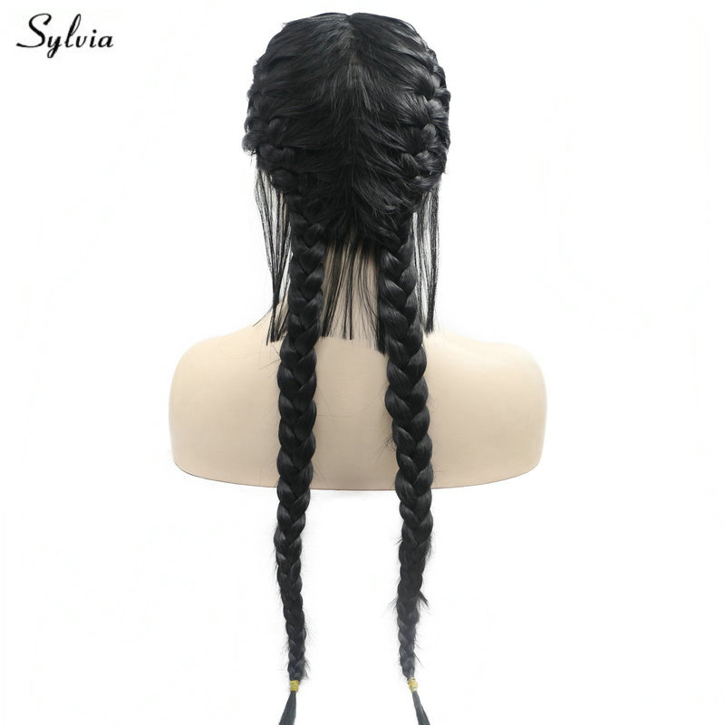 Precise Sylvia Long 2x Twist Braids With Baby Hair Synthetic Lace Front Wigs Black Hair Middle Part Festival For Women High Temperature Waterproof Hair Extensions & Wigs Synthetic Wigs Shock-Resistant And Antimagnetic