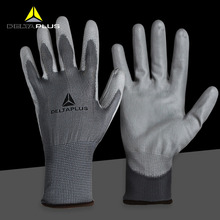 где купить 12 pairs/lot Deltaplus Work Safety Gloves Palm PU Coating Wear-resistant Anti-slip Gloves Labor Protection Breathable Glove по лучшей цене
