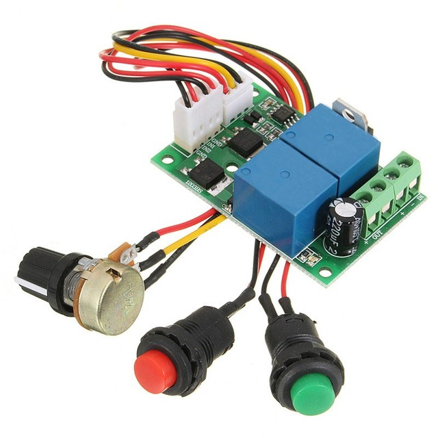 PWM 6V-24V DC Motor Controller Electric Drive Pusher Linear Actuator Motor Speed Regulator with Button and Positive Inversion
