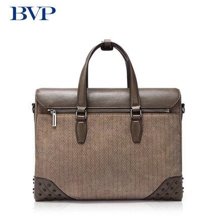 """Wysokiej jakości znane marki BVP prawdziwej skóry biznesmenów 14 """"Laptop przenośny neseser skóra bydlęca pojedyncza torba na ramię J50"""