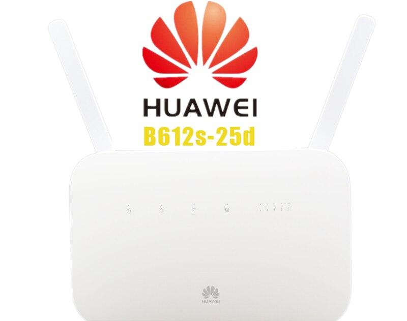 Débloqué Huawei B612 B612s-25d Routeur 4G LTE Cat.6 300Mbs CPE Routeur Routeur Sans Fil 4G + 2 pièces Antenne