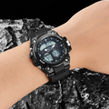 Marca binzi hombres reloj militar deportes relojes de cuarzo de moda a prueba de agua led digital electrónica del reloj para los hombres reloj de pulsera