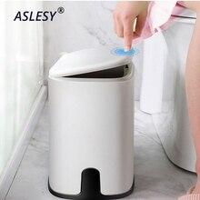 Multifunction 11L Plastic Narrow Type Trash Can Toilet Waste Bin Dustbin bin Basket Garbage Bucket Bathroom Cleaning Tool