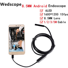 Wedscop HD 2MP 6 LED 8.5mm Lens 1M/2M/3M/5M Android USB Endoscope Waterproof Inspection Borescope Tube Camera OTG Android Phone