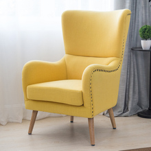 Середина века Современный wingback стул в два тона для Гостиная Мебель для спальни кресло Акцент стул Hi-назад шипованных стул